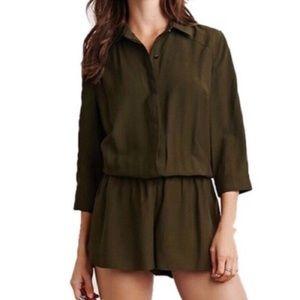 [Forever 21] Olive Green Jumpsuit Short Coveralls